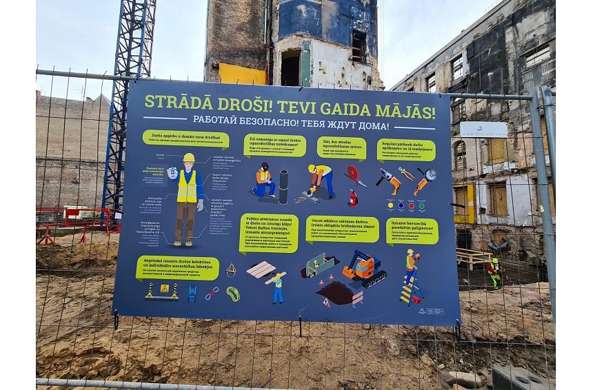VNĪ būtiski stiprinājuši drošības uzraudzību būvlaukumos, rezultāti jau redzami