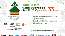"""24. septembrī apbalvos konkursa """"Energoefektīvākā ēka Latvijā 2020"""" laureātus"""