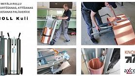 Efektīvs palīgs būvlaukumā un skārdnieku darbnīcā – KNOLL Kuli – metāla ruļļu transportēšanas un griešanas ierīce