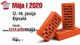 """No 12.-14. jūnijam ikviens aicināts apmeklēt būvniecības izstādi """"Māja I 2020"""""""