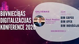 Vērienīgs notikums nozarē –starptautiskā tiešsaistes Būvniecības Digitalizācijas konference 2020