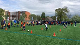 Ventspils. Pārventā atklāts renovētais futbola laukums