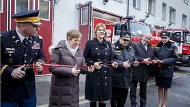 Jelhava. Atklāj renovēto Jelgavas ugunsdzēsēju depo