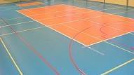 Irlavas sporta nama zālē jauns grīdas segums
