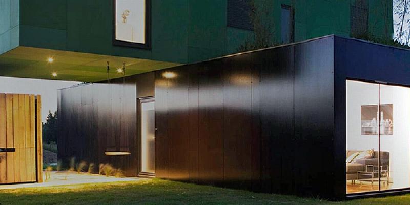 Koka karkasa moduļu ēkas