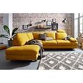 Izvelkams dzeltens stūra dīvāns